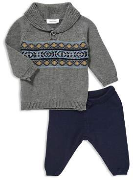 Angel Dear Boys' Shawl-Collar Sweater & Knit Pants - Baby