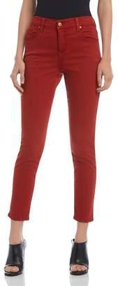 Karen Kane Zuma Skinny Cropped Jeans in Rust