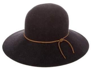 Rag & Bone Leather-Trimmed Felt Hat