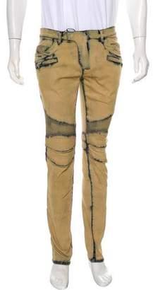 Balmain Coated Biker Skinny Jeans w/ Tags