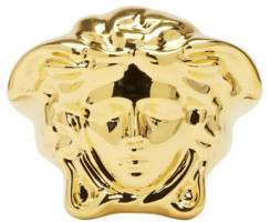 Versace Gold Large Medusa Ring $395 thestylecure.com