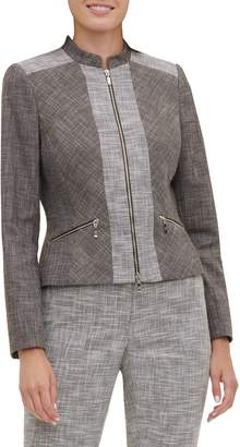 Tommy Hilfiger Novelty Plaid Moto Zip-Up Jacket