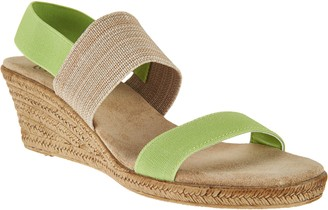 Co Charleston Shoe Colorblocked Wedge Sandals - Cooper