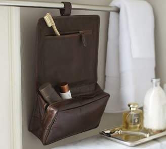 Pottery Barn Saddle Leather Hanging Toiletry Case