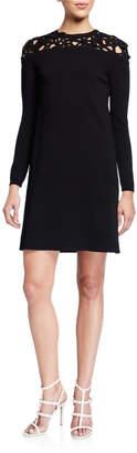 Valentino Applique Cutout Knit Dress