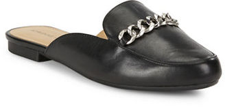 Adrienne Vittadini Davey Leather Mules $89 thestylecure.com
