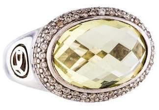 David Yurman Quartz & Diamond Cocktail Ring