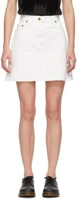 McQ White Denim Recycled Miniskirt