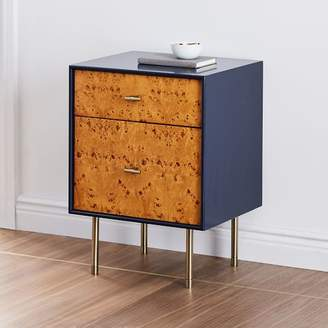 west elm Modernist Wood + Lacquer Nightstand - Night Sky