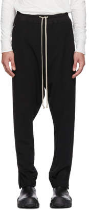 Rick Owens Black Wool Track Pants
