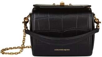 Alexander McQueen Nano Croc Embossed Box Bag