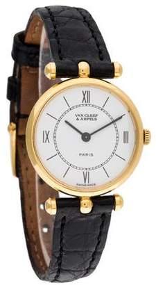 Van Cleef & Arpels La Collection Watch w/ black crocodile strap