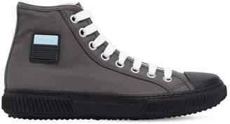 Prada Stratus Cotton Canvas High Top Sneakers