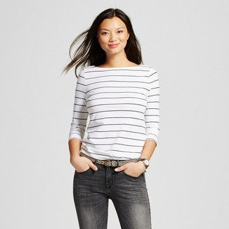 Merona Women's Striped Boatneck T-Shirt 3/4 Sleeve $12 thestylecure.com