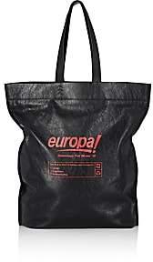 Balenciaga Men's Supermarket Shopper L Leather Tote Bag-Gray