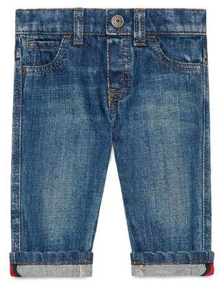 Gucci Baby washed denim trousers