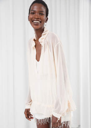 And other stories Billowy Drawstring Tunic