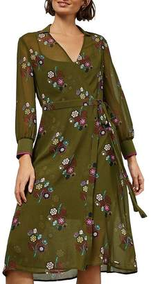 Ted Baker Mammil Floral-Print Collared Wrap Dress