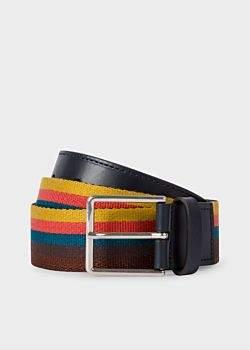Paul Smith Men's 'Artist Stripe' Webbing Belt