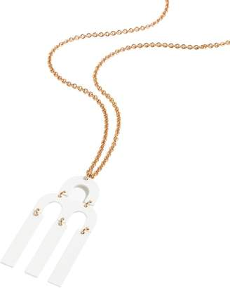 J.Crew Tuning Fork Pendant Necklace