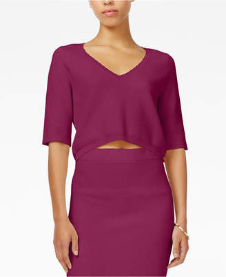 RACHEL Rachel Roy V-Neck Crop Top, Only at Macy's $79 thestylecure.com