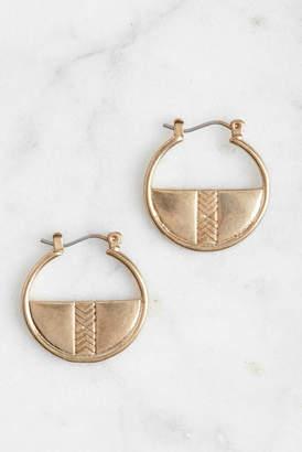Schiff Marlyn Gold Geometric Half Hoop Earrings