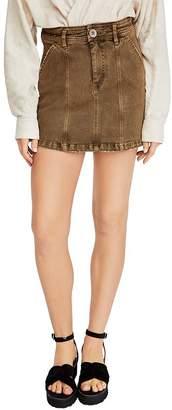 Free People Lennox Seamed Mini Skirt