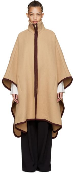 Chloé Chloé Tan Long Cape Coat