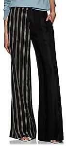 Esteban Cortazar Women's Mixed-Striped Wide-Leg Pants - Black