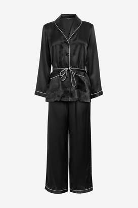 Next Womens Figleaves Black Ava Silk Palazzo PJ Set