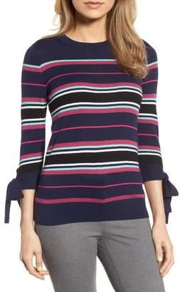 Halogen Tie Sleeve Crewneck Sweater (Regular & Petite)