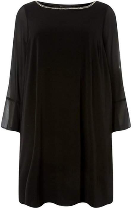 Womens **Billie & Blossom Curve Black Shift Dress