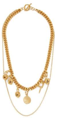 Orit Elhanati - Alex 24kt Gold Plated Charm Necklace - Womens - Gold