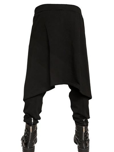 Gareth Pugh Cuffs Zipped Cotton Wool Fleece Panelled