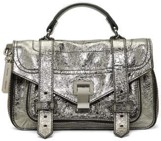 Proenza Schouler Silver Tiny PS1and Messenger Bag