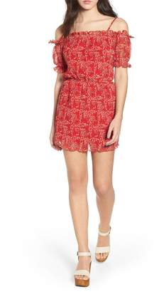 The Fifth Label Apricity Freesia Print Off the Shoulder Dress