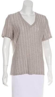 Armani Collezioni V-Neck Patterned Shirt