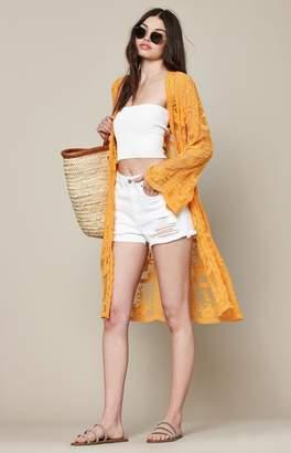 La Hearts Crochet Maxi Kimono