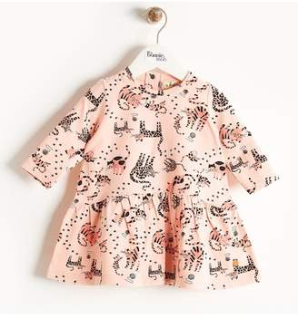 Bonnie Mob Cat Print Dress (Baby Girls)