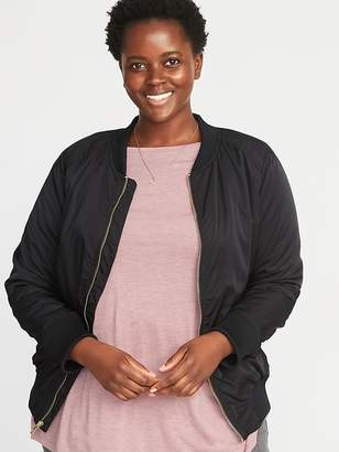 Old Navy Satin Plus-Size Bomber Jacket