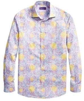 Ralph Lauren Purple Label Bend Back Floral Button-Down Shirt
