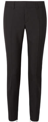 Wool-twill Slim-leg Pants - Black