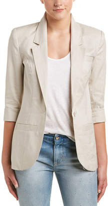 Central Park West Casual Linen Blazer