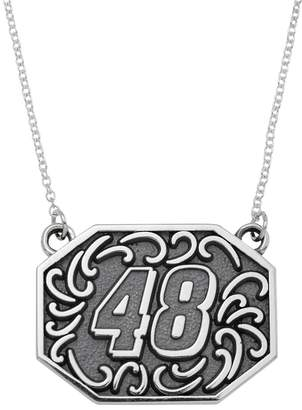 "Insignia Collection NASCAR Jimmie Johnson Stainless Steel ""48"" Pendant"