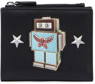 MCM Mini Roboter Leather Wallet W/ Zip