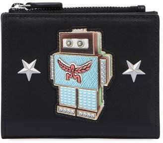 MCM Mini Roboter Leather Wallet W/ Zip