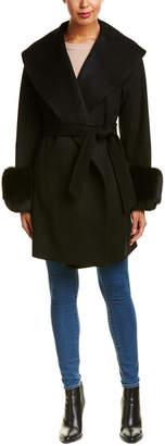 Sofia Cashmere sofiacashmere Sofiacashmere Oversized Collar Wool-Blend Coat