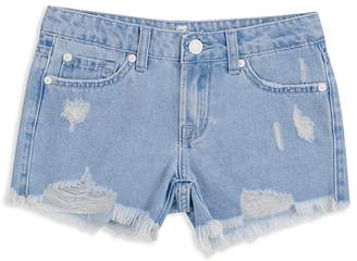 7 For All Mankind Girls' Malibu Destroyed Denim Shorts - Little Kid, Big Kid