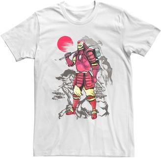 Iron Man Licensed Character Men's Marvel Samurai Portrait Tee