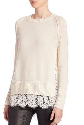 Brochu Walker Lace Cashmere Blend Top $388 thestylecure.com